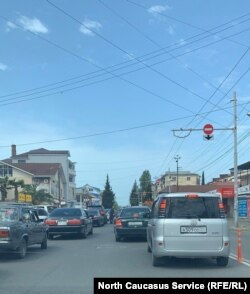 На улицах Сухуми