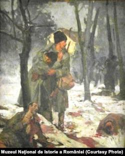 Ion Stoica-Dumitrescu, Scenă de luptă, 1917
