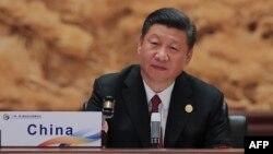 """Қытай президенті Си Цзиньпин """"Бір белдеу, бір жол"""" форумында. Пекин, 15 мамыр 2017 жыл."""