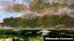 "Gustave Courbet, ""Štarmavoje mora"" (1869)."