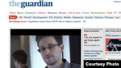 Uebfaqja e Guardian...