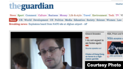 Naslovna stranica Guardiana sa fotografijom Edwarda Snowdena