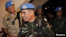 Pjesëtarë të misionit monitorues të OKB-së në Damask të Sirisë