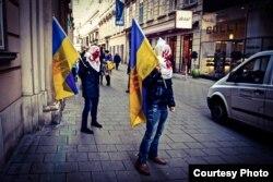 Євромайдан у Відні, 13 лютого 2014 року
