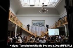 Відкриття картини у бібліотеці Стефаника у Львові, 30 вересня 2019 року