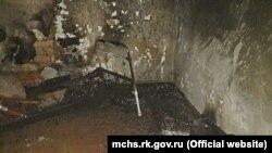Пожар в селе Кировское Черноморского района Крыма