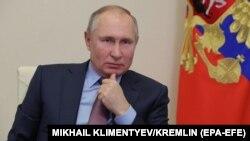 Президент России Владимир Путин. Москва. 10 февраля 2021 года.