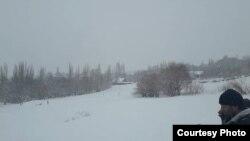 Снегопад в кишлаке Поймазор Ванджского района
