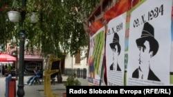 Постери во Битола во чест на Владо Черноземски.