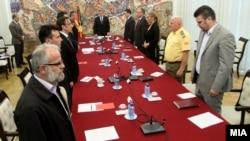 Засідання Ради безпеки Македонії розпочалося з хвилини мовчання, Скоп'є, 10 травня 2015 року