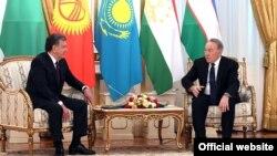Нурсултан Назарбаев и Шавкат Мирзияев. 15 марта 2018 года.