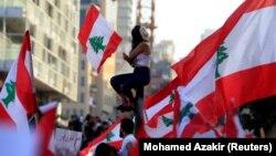 Antivladin protest u centru Bejruta, 21. oktobar 2019.