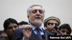 Outgoing Afghan Chief Executive Officer Abdullah Abdullah (file photo)