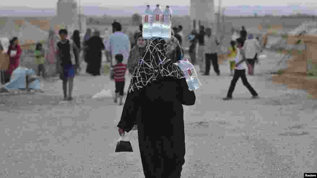 Лагерь беженцев на сирийско-иорданской границе