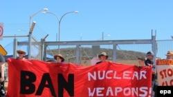 Пратэст у Аўстраліі супраць выкарыстаньня ядзернай зброі. Ілюстратыўнае фота