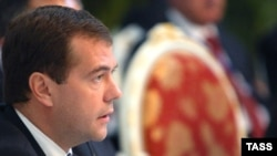 Russian President Dmitry Medvedev sought the backing of SCO members