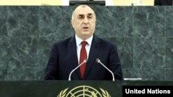 Ադրբեջանի ԱԳ նախարար Էլմար Մամեդյարովը ելույթ է ունենում ՄԱԿ-ի Գլխավոր ասամբլեայի նստաշրջանում, Նյու Յորք, 27-ը սեպտեմբերի, 2014թ,