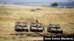 تانکهای ارتش اسرائیل در بلندیهای جولان