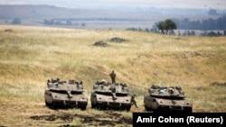 Израильские военные на Голланских высотах, Израиль, май 2018 года
