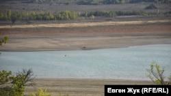 Чорноріченське водосховище, яке забезпечує водою Севастополь, 20 вересня 2020 рік