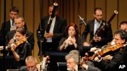 Израилдин камералык оркестри Германиянын Байрөйт шаарында немис композитору Рихард Вагнердин чыгармаcын аткарды. 26.7.2011.