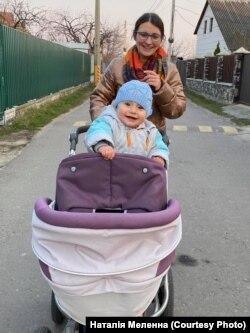 Наталія Меленна з наймолодшою дочкою Олівією