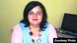Татьяна Тудвасева в бытность сотрудником бухгалтерии тюрьмы. Поселок Долинка Карагандинской области, 2010 год.