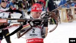 Ветеран німецького біатлону Андреа Хенкель бігла на останньому етапі переможної естафети