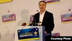 Лидерот на СДСМ Бранко Црвенковски на прес-конференција во партиското седиште во Скопје.