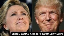 Гілларі Клінтон і Дональд Трамп (комбіноване фото)