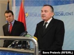 Branko Radulovic (desno) i Zarija Pejovic (lijevo)