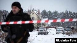 Місце перестрілки поліцейських в селі Княжичі під Києвом, 4 грудня 2016 року