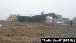 One of the homes being destroyed by authorities in Qushteppa
