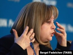 Ресей орталық сайлау комиссиясы жетекшісі Элла Памфилова. Мәскеу, 18 наурыз 2018 жыл