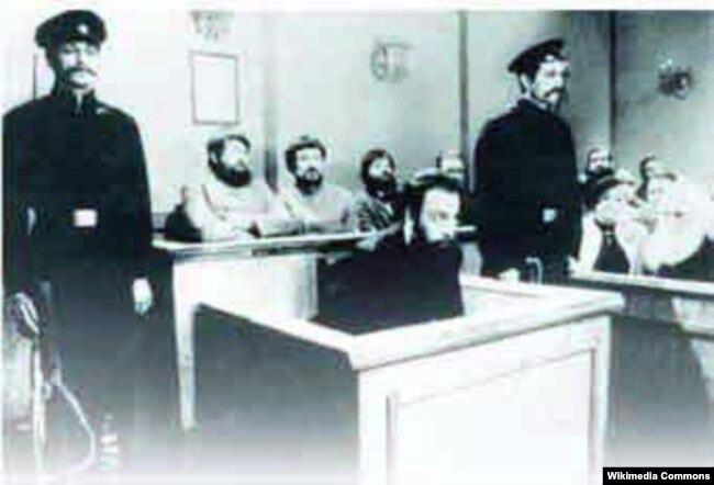 Менахем Бейлис в суде. Киев. Октябрь 1913 года