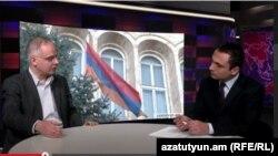 Հայ ազգային կոնգրես խմբակցության ղեկավար Լևոն Զուրաբյանը «Ազատություն TV»-ի տաղավարում, 11-ը մայիսի, 2015թ.