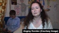 Людмила Коршунова с сыном Сергеем