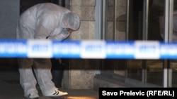 Istražitelji na mjestu napada na Oliveru Lakić, Podgorica