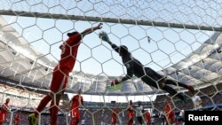Фрагмент матча Франция - Швейцария