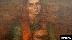 Фрагмент ікони Христа Пантократора і і Святого Стефана. Перша половина 18 століття. Храм Преподобного Федора Острозького.