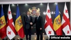 Vlad Filat și omologul său georgian Vano Merabishvili la Tbilisi