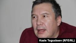 Серикжан Мамбеталин, гражданский активист, обвиняемый в разжигании розни. Алматы, 6 января 2016 года.