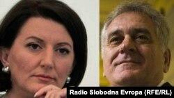 Косовската претседателка Атифете Јахјага и претседателот на Србија Томислав Николиќ.