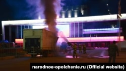 Пожежа на мітингу «Єдиної Росії» у Сімферополі