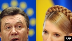 Party of Regions chief Viktor Yanukovych (left) and Prime Minister Yulia Tymoshenko are the two leading candidates for the January vote.