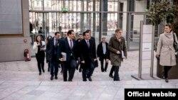 Премиерот Зоран Заев и владината делегација во посета на Берлин.