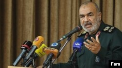 Hossein Salami, commander of Iran's Revolutionary Guards. File photo