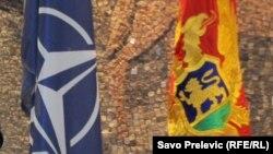 Zastava NATO-a i Crne Gore, ilustrativna fotografija