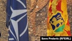 Zastave NATO i Crne Gore