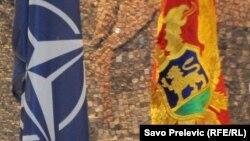 Zastava NATO i Crne Gore, ilustrativna fotografija